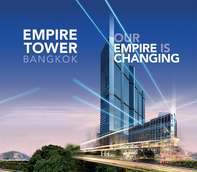 EMPIRE TOWER BANGKOK - Our Empire is Changing Pillar Wrap